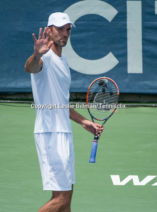 July  22, 2016:  Ivo Karlovic (CRO) defeated Jack Sock (USA) 7-6 , 7-6, at the Citi Open being played at Rock Creek Park Tennis Center in Washington, DC.  ©Leslie Billman/Tennisclix/CSM