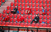 17th May 2020,Stadion An der Alten Försterei, Berlin, Germany; Bundesliga football, FC Union Berlin versus Bayern Munich; Substitute players of Union Berlin sitting in the stands and wearing masks.
