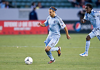 CARSON, CA - April 1, 2012: Graham Zusi (8) of KC during the Chivas USA vs Sporting KC match at the Home Depot Center in Carson, California. Final score Sporting KC 1, Chivas USA 0.