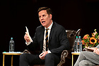 """September 25, 2019; Panelist Juan Carlos Cruz, a survivors' advocate from Chile, answers a question during the 2019-20 Notre Dame Forum titled """"'Rebuild My Church': Crisis and Response,"""" with a discussion on """"The Church Crisis: Where Are We Now?"""" held at the DeBartolo Performing Arts Center. (Photo by Barbara Johnston/University of Notre Dame)"""