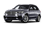 Stock pictures of low aggressive front three quarter view of a 2018 BMW X5 Plug-in Hybrid iPerformance 5 Door SUV