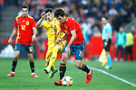Spain's Mikel Oyarzabal  and Romania's Valentin Gheorghe   during the International Friendly match on 21th March, 2019 in Granada, Spain. (ALTERPHOTOS/Alconada)