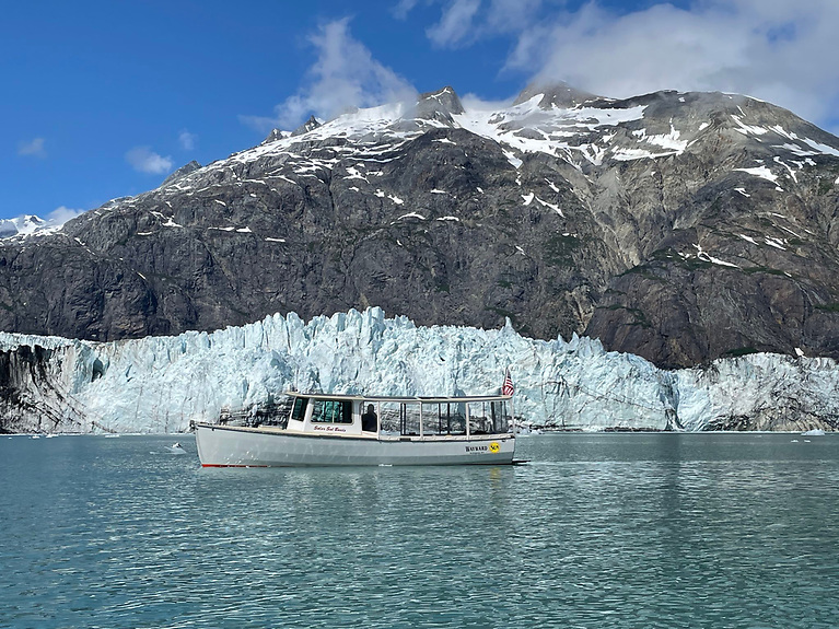 During the 45-day passage from Bellingham to Glacier Bay to Juneau, the pair were underway for 38 days. We averaged 32 nautical miles per day at an average speed of 3.7 knots