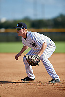 New York Yankees first baseman Eric Wagaman (20) during an Instructional League game against the Baltimore Orioles on September 23, 2017 at the Yankees Minor League Complex in Tampa, Florida.  (Mike Janes/Four Seam Images)