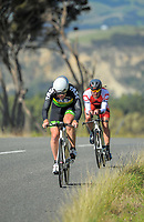 Graham Bunn (Te Awamutu Sports Cycling). Time trials on Day One of the 2018 NZ Age Group Road Cycling Championships in Carterton, New Zealand on 20 April 2018. Photo: Dave Lintott / lintottphoto.co.nz