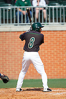 Mikal Hill (8) of the Charlotte 49ers at bat against the Canisius Golden Griffins at Hayes Stadium on February 23, 2014 in Charlotte, North Carolina.  The Golden Griffins defeated the 49ers 10-1.  (Brian Westerholt/Four Seam Images)
