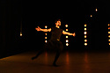 """2Faced Dance present a triple bill, entitled """"EVERYTHING (but the girl)"""", in the Patrick Studio, Birmingham Hippodrome. The company celebrate their 20th anniversary with this world premiere. The piece shown is: Hollow in a World Too Full, choreographed by Tamsin Fitzgerald. The dancer is: Sam Buswell."""