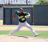 Leudeny Pineda - Oakland Athletics 2019 extended spring training (Bill Mitchell)