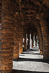Gaudi's Parc Guell in Barcelona, Spain<br />