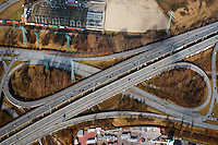 BAB A7  Abfahrt Waltershof: EUROPA, DEUTSCHLAND, HAMBURG, (EUROPE, GERMANY), 23.02.2014: BAB A7  Abfahrt Waltershof