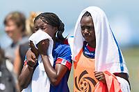 Bradenton, FL - Sunday, June 12, 2018: Haiti prior to a U-17 Women's Championship 3rd place match between Canada and Haiti at IMG Academy. Canada defeated Haiti 2-1.