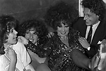 MARINA RIPA DI MEANA CON CORINNE CLERY, CLIO GOLDSMITH E CARLO PURI<br /> FESTA POST SFILATA LANCETTI - BELLA BLU 1982