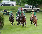 Early action in the Middletown Cup, Decoy Daddy, right, and Faction, in the red cap.
