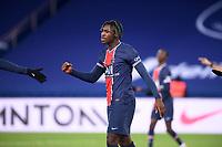 24th December 2020; Paris, France; French League 1 football, Paris St Germain versus Strasbourg;   Goal celebrations from BIOTY MOISE KEAN PSG