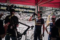 Jens Keukeleire (BEL/Orica-Scott) having his bike weight-checked before his TT<br /> <br /> 104th Tour de France 2017<br /> Stage 20 (ITT) - Marseille › Marseille (23km)