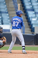 Toronto Blue Jays outfielder Freddy Rodriguez (87) during an Instructional League game against the New York Yankees on September 24, 2014 at George M. Steinbrenner Field in Tampa, Florida.  (Mike Janes/Four Seam Images)