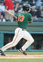 April 20, 2009: Infielder Ben Lasater (23) of the Greensboro Grasshoppers, Class A affiliate of the Florida Marlins, in a game against the Greenville Drive at Fluor Field at the West End in Greenville, S.C. Photo by: Tom Priddy/Four Seam Images