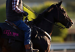 """October 28, 2019 : """"The Coach"""" Lava Man on the track in preparation for the Breeders' Cup World Championships at Santa Anita Park in Arcadia, California on October 28, 2019. Carolyn Simancik/Eclipse Sportswire/Breeders' Cup/CSM"""