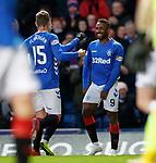 03.04.2019 Rangers v Hearts: Jermain Defoe takes the acclaim