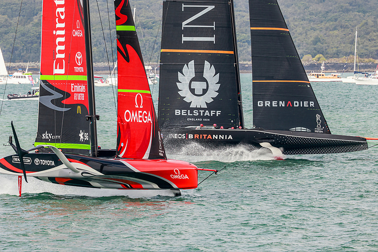 Emirates Team New Zealand racing against their future challenger of record INEOS TEAM UK