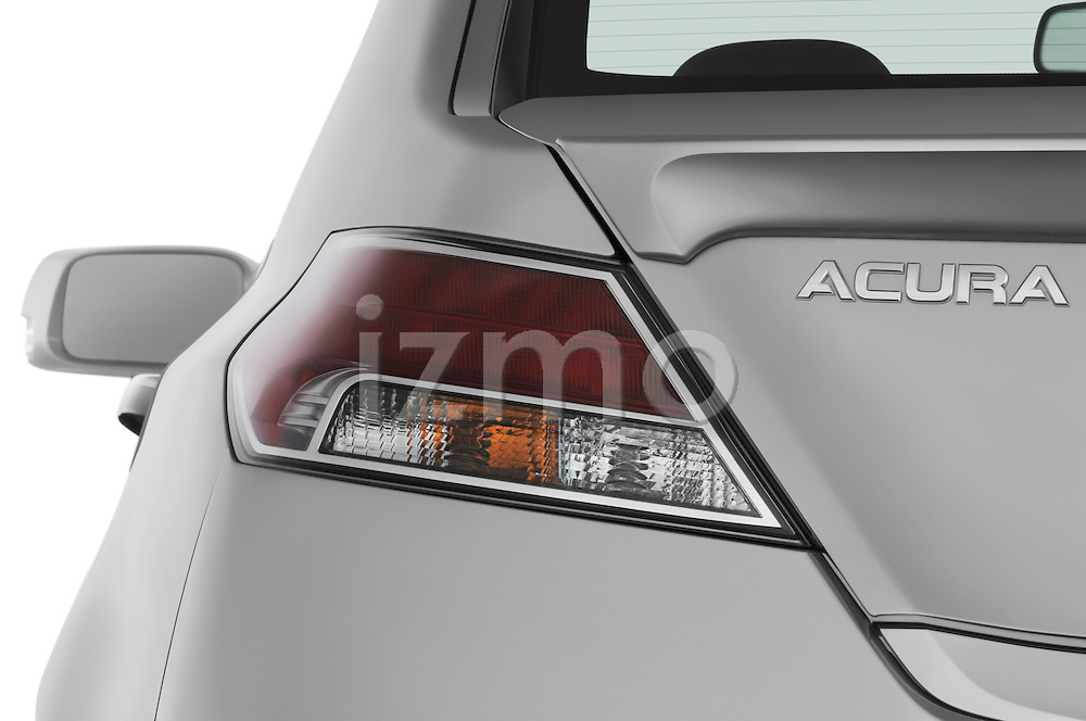 Tail light close up detail view of a 2009 - 2014 Acura TL SH AWD Sedan.