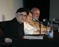 Montreal (Qc) CANADA -august 11  2009 file photo -Montreal world film Festival Press conference with serge Losique (L), Daniel cauchard  (R) : Serge Losique