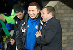 St Johnstone v Hamilton Accies....02.02.11  .Derek McInnes has a laugh with Billy Reid before kick off.Picture by Graeme Hart..Copyright Perthshire Picture Agency.Tel: 01738 623350  Mobile: 07990 594431