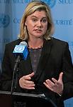 Press encounter with United Kingdom Secretary of State for International Development, H.E. Ms. Justi