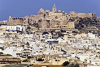 Victoria, Rabat, Gozo, Malta.  Citadel and Cathedral on City Hill.