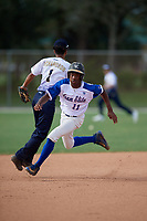 Darryl Buggs (11) during the WWBA World Championship at the Roger Dean Complex on October 13, 2019 in Jupiter, Florida.  Darryl Buggs is an outfielder from Stockbridge, Georgia who attends Heritage High School and is committed to the University of Alabama at Birmingham.  (Mike Janes/Four Seam Images)