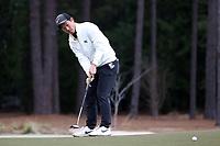 PINEHURST, NC - MARCH 02: Eric Bae of Wake Forest University putts on the third hole at Pinehurst No. 2 on March 02, 2021 in Pinehurst, North Carolina.