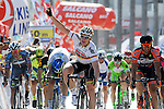 Andre Greipel (GER) Lotto-Soudal wins Stage 4 of the 2015 Presidential Tour of Turkey running 132km from Fethiye to Marmaris. 29th April 2015.<br /> Photo: Tour of Turkey/Brian Hodes/www.newsfile.ie