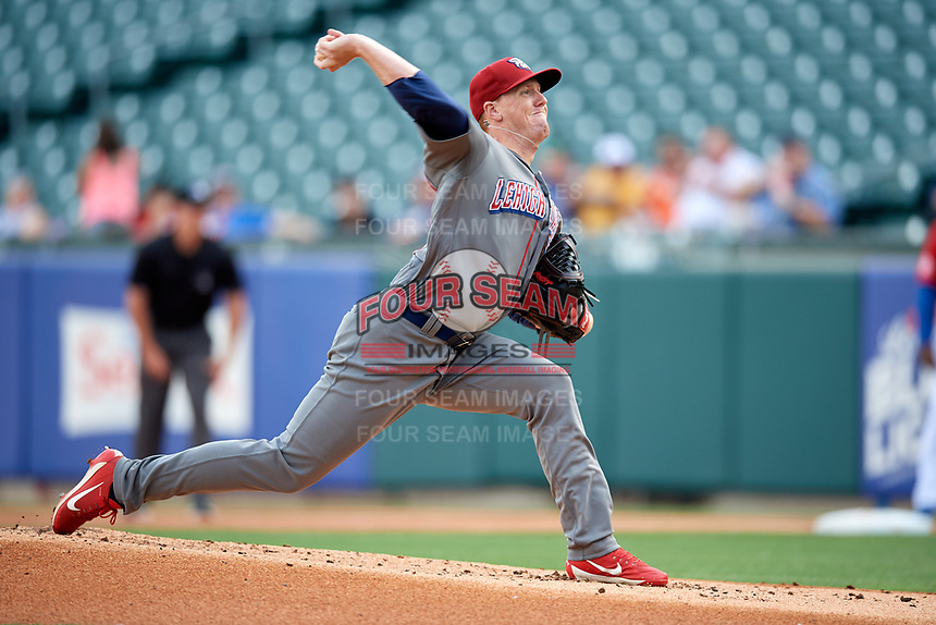 Lehigh Valley IronPigs starting pitcher Tom Eshelman (61) delivers a pitch during a game against the Buffalo Bisons on June 23, 2018 at Coca-Cola Field in Buffalo, New York.  Lehigh Valley defeated Buffalo 4-1.  (Mike Janes/Four Seam Images)