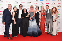 Call the Midwife cast<br /> in the winners room at the National TV Awards 2017 held at the O2 Arena, Greenwich, London.<br /> <br /> <br /> ©Ash Knotek  D3221  25/01/2017