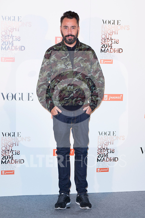 """Juanjo Oliva attends the """"VOGUE FASHION NIGHT OUT"""" Photocall at Jose Ortega y Gaset street in Madrid, Spain. September 18, 2014. (ALTERPHOTOS/Carlos Dafonte)"""