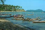 SEA GYPSY BOATS IN VILLAGE IN PHUKET