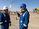 Iraq 2011 Workers on an oil field of Kurdistan<br /> Irak 2011 Ouvriers sur un champ de petrole kurde.