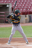 Beloit Snappers infielder Max Kuhn (10) at bat during a Midwest League game against the Wisconsin Timber Rattlers on May 30th, 2015 at Fox Cities Stadium in Appleton, Wisconsin. Wisconsin defeated Beloit 5-3 in the completion of a game originally started on May 29th before being suspended by rain with the score tied 3-3 in the sixth inning. (Brad Krause/Four Seam Images)