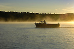 1955 Chris Craft owned by Harry Kaiser. Moosehead Lake morning in October.