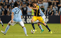 Kansas City, KS - Wednesday September 20, 2017: Aaron Long during the 2017 U.S. Open Cup Final Championship game between Sporting Kansas City and the New York Red Bulls at Children's Mercy Park.