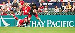 Tonga vs China during Day 1 of the Cathay Pacific / HSBC Hong Kong Sevens 2012 at the Hong Kong Stadium in Hong Kong, China on 23rd March 2012. Photo © Manuel Queimadelos / PSI for Catahy Pacific