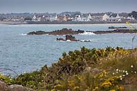 Royaume-Uni, îles Anglo-Normandes, île de Guernesey, Castel: Cobo Bay// United Kingdom, Channel Islands, Guernsey island, Castel: Cobo Bay