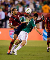Jermaine Jones, Oribe Peralta. The USMNT tied Mexico, 1-1, during their game at Lincoln Financial Field in Philadelphia, PA.