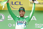 Peter Sagan (SVK) Bora-Hansgrohe retains the points Green Jersey at the end of Stage 14 of the 2019 Tour de France running 117.5km from Tarbes to Tourmalet Bareges, France. 20th July 2019.<br /> Picture: Colin Flockton | Cyclefile<br /> All photos usage must carry mandatory copyright credit (© Cyclefile | Colin Flockton)