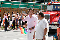 August 19, 2012 File Photo -   Montreal's Gay Pride parade - Justin Trudeau and Denis Coderre