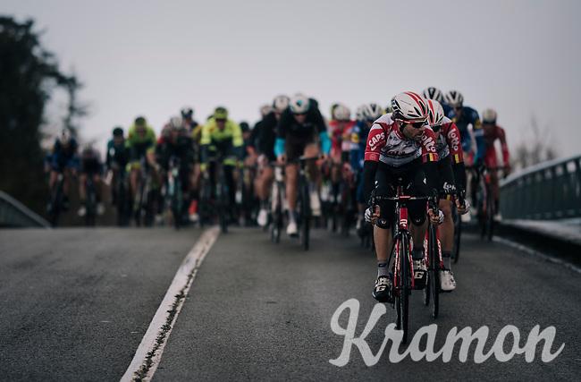 Maxime Monfort (BEL/Lotto-Soudal)<br /> <br /> 51th Le Samyn 2019 <br /> Quaregnon to Dour (BEL): 200km<br /> <br /> ©kramon