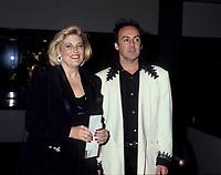 FILE PHOTO -  Danielle Ouimet<br />  et le coiffeur Alvaro, Mars 1994<br /> <br /> PHOTO : Agence quebec Presse