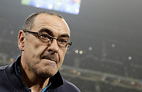 Calcio, Serie A: Inter - Napoli, Milano, stadio Giuseppe Meazza (San Siro), 11 marzo 2018.<br /> Napoli's coach Maurizio Sarri waits for the start of the Italian Serie A football match between Inter Milan and Napoli at Giuseppe Meazza (San Siro) stadium, March 11, 2018.<br /> UPDATE IMAGES PRESS/Isabella Bonotto