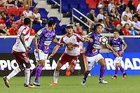 Harrison, NJ - Wednesday Aug. 03, 2016: Aurelien Collin, Agustin Herrera during a CONCACAF Champions League match between the New York Red Bulls and Antigua at Red Bull Arena.