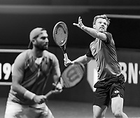 Rotterdam, The Netherlands, 6 march  2021, ABNAMRO World Tennis Tournament, Ahoy,  <br /> Semi final doubles: Kevin Krawietz (GER) / Horia Tecau (ROU).<br /> Photo: www.tennisimages.com/henkkoster